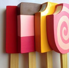 Wooden Play Food : Variety Pack of Popsicles