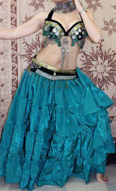 Tribal Bellydance Burlesque Kuchi Gothic Gypsy by SenoritasDesigns Costume Ideas, Costumes, Tribal Skirts, Tribal Fusion, Silk Skirt, Burlesque, Gypsy, Dancing, Gothic