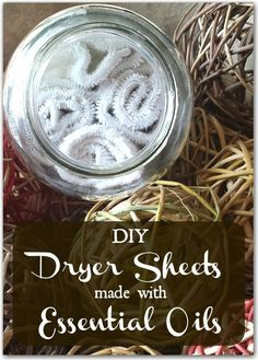 These DIY dryer sheets made with essential oils are super easy to make and better for you!