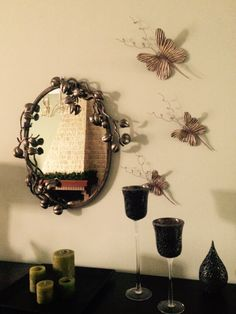 Mirror with butterflies Mammy's decoration