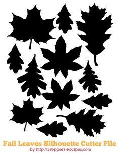 Fall Leaves #silhouette #cutterfile #free til min halskæde