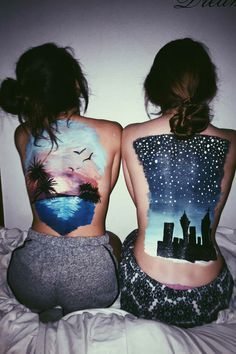 Back painting, Sunsets and Paintings on Pinterest