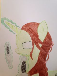 This is pony inspired by Guild Wars 2. She is necromancer and a little like norn.  - by Aysha Magicdream Her name is Arys.