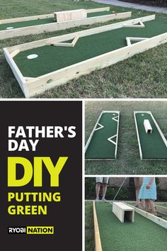 Dad Of The Year, Father's Day Diy, Have Some Fun, Stepping Stones, Fathers Day, Golf Courses, Backyard, How To Plan, Green
