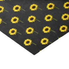 Autumn Bride Sunflower Party Tissue Paper - romantic gifts ideas love beautiful
