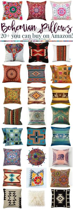 Where To Buy: Bohemian Pillows http://www.adesignerathome.com/where-to-buy-bohemian-pillows/