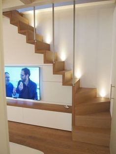 Modern Staircase Design Ideas - Stairways are so usual that you do not provide a reservation. Have a look at best 10 examples of modern staircase that are as magnificent as they are . Stairs In Living Room, House Stairs, Home Stairs Design, House Design, Attic Bedroom Designs, Concrete Stairs, Concrete Stone, Modern Staircase, Staircase Ideas