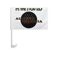 Time 2 Golf Car Window Flag Car Flag > TIME 2 PLAY GOLF > glorialhenny