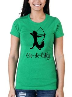 Robin Hood Disney Shirt // Oo-de-lally Green Crew