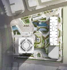 Nanning Logan Century by Dennis Lau and Ng Chun Man Architecture & Engineers (HK) Limited (DLN) in Nanning, China Architecture Graphics, Architecture Plan, Landscape Architecture, Site Development Plan Architecture, Cv Photoshop, The Plan, How To Plan, Plot Plan, English Garden Design