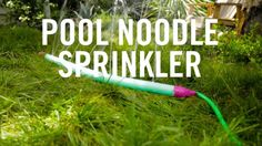 Who needs a pool this summer when you can make your own DIY sprinkler. Using an old pool noodle, it's affordable, simple to create, and perfect for enjoying summer at home. Plus, your little ones will look adorable running around in the water!