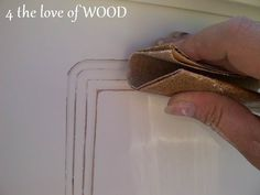 4 the love of wood: SECRETS TO DISTRESSING - white queen bedframe
