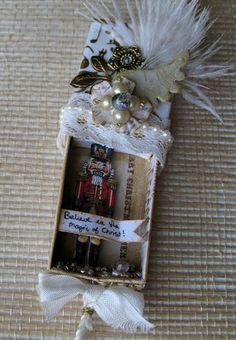made with Nutcracker Sweet paper from Graphic 45