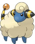 Mareep 179: One of the few Electric Types, and the first one you can find. Moveset (as Ampharos): ThunderPunch, Headbutt, Thunder Wave, Strength.