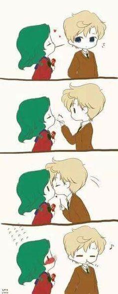 Yuri Pepero game Kiss *-*