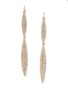 Pavé Marquise Drops - Earrings - Categories - Shop Jewelry | BaubleBar