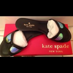 HP Kate Spade Taleen Sandals - NIB size 8 This is a brand new in box pair of Kate Spade Taleen sandals.  They are black with a hologram sunglasses design on the top.   Very cute! kate spade Shoes Sandals