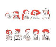 gingerhaze (Noelle Stevenson): hairstyles I've had through the years