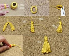 Ideas: November 2015 - -Sweet Ideas: November 2015 - - DIY :: GRADUATION CAP BOTTLE TOPPERS — Celebrations at Home Add a dash of graduation cheer to just about anything with a hassle-free tassel tutorial. Capelo lembrancinha formatura no Graduation Desserts, Graduation Crafts, Graduation Party Centerpieces, Graduation Party Planning, Grad Gifts, Diy Gifts, Diy Tassel, Tassels, Craft Ideas