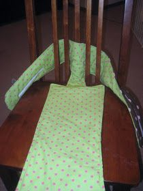Crystal's Craft Spot: Fabric High Chair