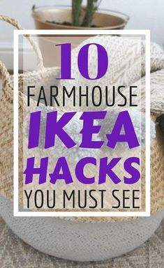 If farmhouse decor is your fave home decor style then don't miss these 10 Farmhouse DIY Ikea hacks that you can do on a budget! Farmhouse Style Decorating, Decorating On A Budget, Farmhouse Decor, Farmhouse Front, Modern Farmhouse, Vintage Farmhouse, Decorating Hacks, Farmhouse Interior, French Farmhouse