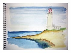 Faro Painting, Light House, Paintings, Painting Art