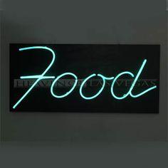 "neon sign - food 52"" x 8"""
