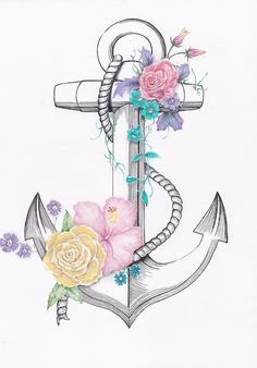 My Voyage Sketch is now available on my Online store below. Drawn by Chene : My Voyage Sketch is now available on my Online store below. Drawn by Chene Future Tattoos, New Tattoos, I Tattoo, Cool Tattoos, Lace Tattoo, Tattoo Black, Anker Tattoo Design, Anchor Drawings, Budget Flowers
