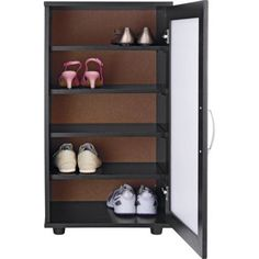 Contemporary Shoe Storage Cabinet - Black. at Homebase -- Be inspired and make your house a home. Buy now.