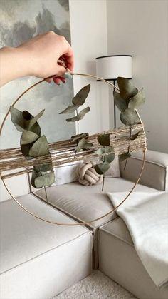 Diy Crafts For Home Decor, Fun Diy Crafts, Handmade Home Decor, Diy Room Decor, Diy Décoration, Easy Diy, Boho Diy, Diy Wall Art, Diy Furniture