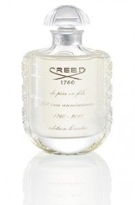 The fashion house of luxury perfume Creed celebrates its first 250 years with a special limited edition.  250 years anniversary is a tribute to vintage perfume creations of the most popular and famous brand.