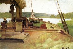 """Low Tide,"" Dennis Miller Bunker, 1880-1882, oil on canvas, 14 1/4 x 20 5/8"", private collection."