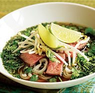 Vietnamese Beef Noodle Soup with Fresh Herbs (Faux Phõ) from @Fine Cooking.com