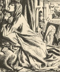 Alfred Lord Tennyson, 'Mariana in the South' in Poems, illustrated by D. G. Rossetti. London : E. Moxon, 1859.