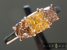 Yellow and pink diamonds