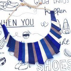 colier piele sashaccessories_L202 (genuine leather statement necklace) Handmade Accessories, Fii, Leather, Blog, Necklaces, Chain, Blogging, Collar Necklace, Wedding Necklaces