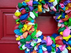 Birthday Wreath - great way to celebrate a student's birthday :) Just hang on the door with their name/picture in the middle!