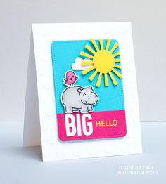 Lawn Fawn - Year Four, Hello Baby, Cole's ABCs, Spring Showers, Stitched Journaling Card _ BIG Hello by Jean via Flickr
