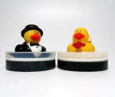 Bride & Groom Rubber Duck Soap Set by CandlelitDesserts on Etsy  $10.99 set