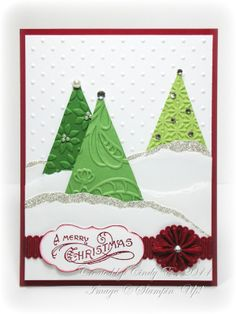 Christmas Trees embossed