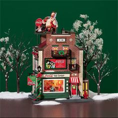 """Department 56: Products - """"Coca-Cola Soda Fountain"""" - View Lighted Buildings  Wish list"""