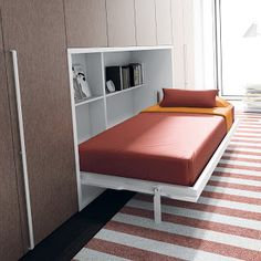 Space saving furniture ideas for your home Space Saving Beds, Space Saving Furniture, Pallet Furniture, Home Furniture, Furniture Ideas, Cama Murphy, Horizontal Murphy Bed, Beds For Small Spaces, Smart Bed