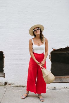 DIY Wide Leg Trousers