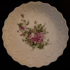 A cherished possession - my great grandmother's bread plate. Mom kept it in a place of honor and I do too.