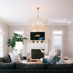 Living room bliss. #georgiastreetdesign #interiors #interiordesign #cltinteriors #momentswithsunday Room Interior Design, Interior S, Georgia Street, Family Rooms, Living Rooms, Bungalow, Mid-century Modern, Bliss, New Homes