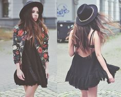 Mango Bomber Jacket, Zara Chain Hat, One Teaspoon Dress