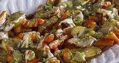 Ψητά λαχανικά με ταχίνι και πέστο