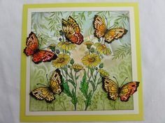 """Hello everyone, here are some more samples with the """"Honeysuckle butterfly"""" and the Thistle Butterfly"""" stamp sets. For the firs. Baroque Design, Baroque Art, Distress Ink, Hello Everyone, Art Journals, Cardmaking, Paper Crafts, Butterfly, Chocolate"""