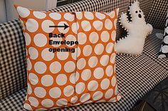 How to make an envelope pillow cover for your pillows. You could even make some for every season/holiday.