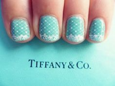 nail, nails, tiffany & co, turquoise